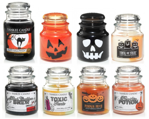 Yankee Candles 2012 Halloween Collection, featuring Candy Corn, Witches Brew, and a bunch of new classics