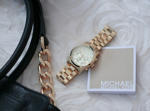 m-ignon:  the-voguette:  Michael Kors watches are simply the best  wish I had one