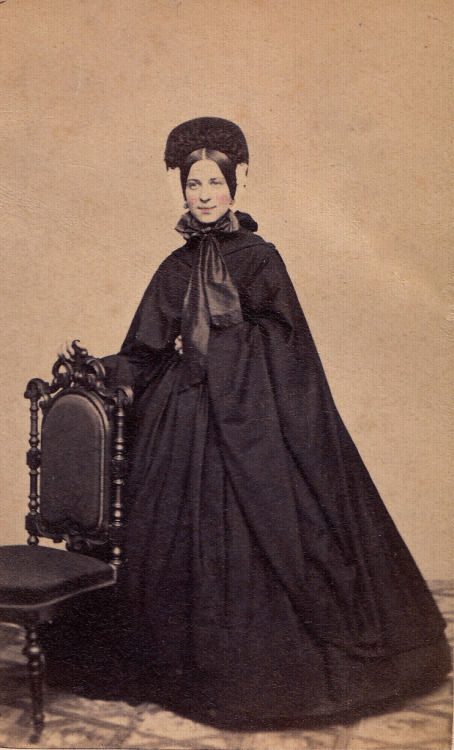 fripperiesandfobs:  Young Beauty in Mourning, Albumen Carte de Visite, Circa 1862 (by lisby1)