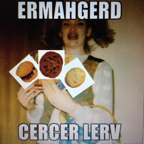 #ermahgerd. #cocolove #cocolovehomemade #cocolovephilly #meme #gersberms #whoopiepie #cookie #chocolate #yum #food (Taken with Instagram)