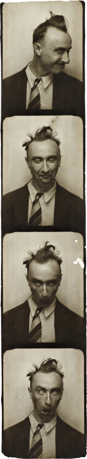 Yves Tanguy, Selfportrait in a Photobooth ca. 1929.  © Collection Musée de l'Elysée, Lausanne / 2011, ProLitteris, Zurich