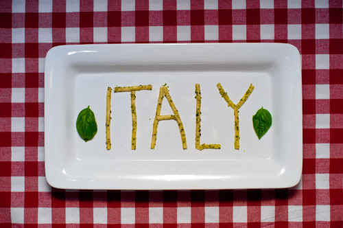 Italy. Food & Typography, my favorite things.