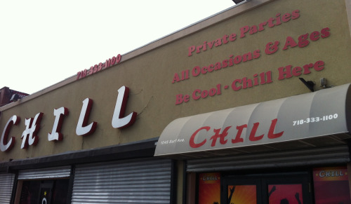 Be cool. Chill here.