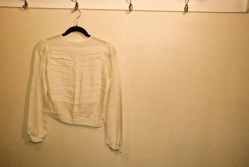 hayburnervintage:  White 70s button-down back dress shirt. For sale at our store on The Cools.