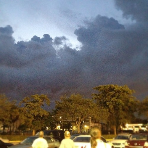 I love the moody Florida weather ☁☔🌙 #florida  (Taken with Instagram)