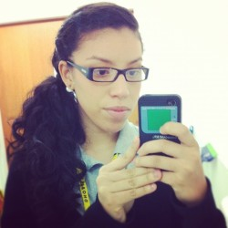 #work #outfit #nerd & #perty #latina #cute #hair #romantic (Taken with Instagram)
