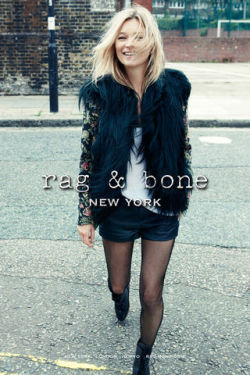 Here we see the Kate Moss and Rag & Bone collaboration, which is pretty exciting!
