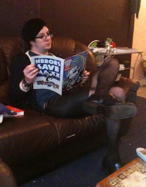 gutspower:  Just living my bohemian lifestyle, reading the Galaxy's Greatest Comic, wishing the legal bullshit around 'Zenith' would get sorted out so they can collect the darn thing.