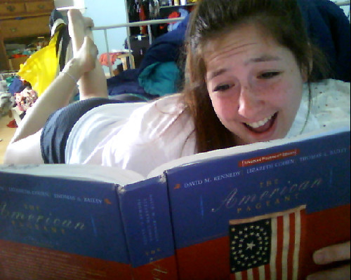 me laughin it up @ dis AP US history book