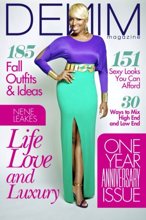 ecstasymodels:  NeNe Leakes Colorblocks for Denim Magazine  I love this look for NeNe :)