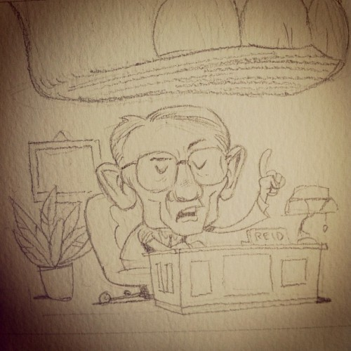 Harry Reid pencils. #process Check out more from CrowdedComics.com at http://crwded.co/tumb01