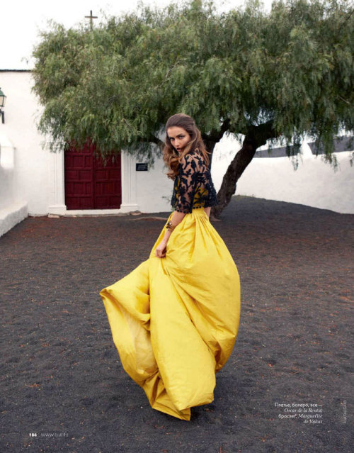garavani:  Andreea Diaconu photographed by Asa Tallgard for Elle Russia June 2012
