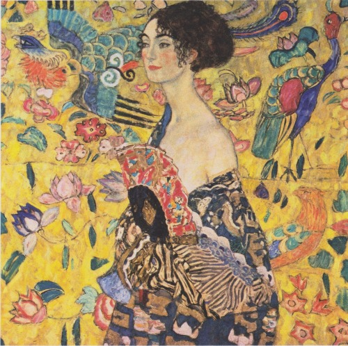 Lady with Fan, Gustav Klimt, 1917-18.