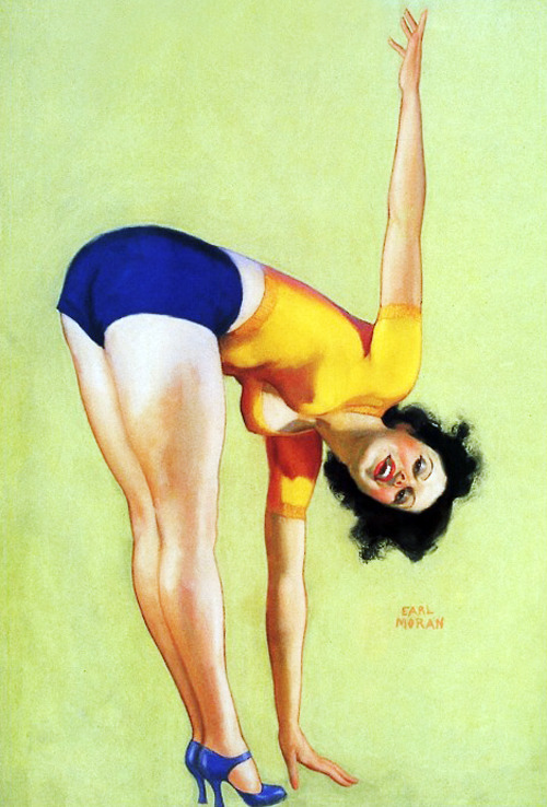 """Keeping in Shape"" by Earl Moran c. 1940's"