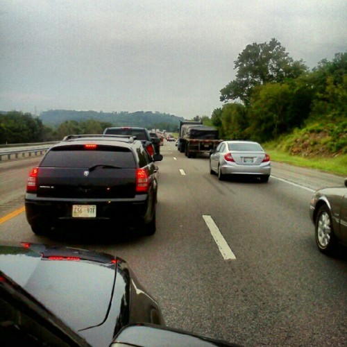 Stuck in traffic on I-40 on the way home from Knoxville. Great show last night! (Taken with Instagram)