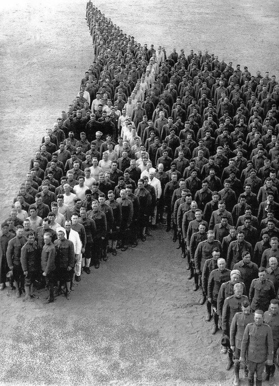 650 Officers and Enlisted Men of the Auxiliary Remount Depot No 326, Camp Cody, Deming NM - 1915