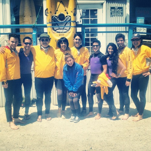 About to go Kayaking in Monterey Bay with some of my Summer Arts Familia! <3