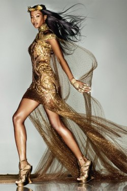 Naomi Campbell in the Midas Touch shoot, photographed by Nick Knight, in the September issue of Vogue this photo… and Naomi is still as beautiful