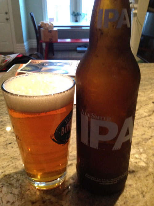 AleSmith IPA - enjoyed this one for national IPA day! Not overly complex, I thought of it as a benchmark IPA to judge all others by. This one doesn't get to sneaky with over the top hops or crazy fruit aromas — just a solid grapefruit smelling strong ipa that was perfect to drink drink and drink again