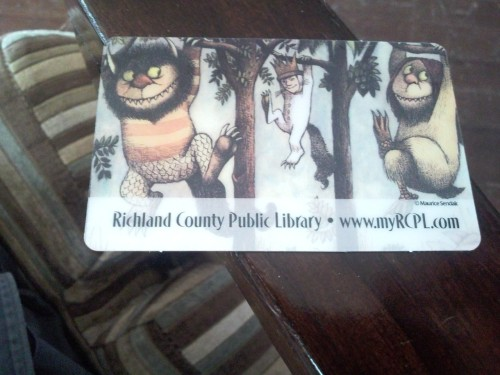 I got a library card!