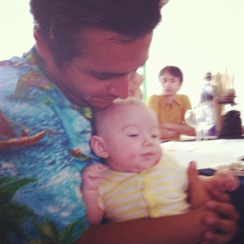 Uncle Cundo and Sofia. (Taken with Instagram)
