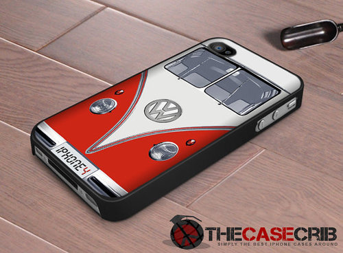 Iphone case VW bus in Red Iphone 4 case Iphone by TheCaseCrib on We Heart It. http://weheartit.com/entry/34265951