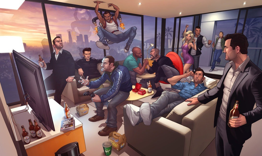 yambruce2000:  every protangonist from gta 3 through gta iv and ctw