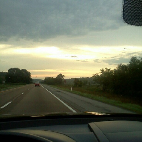 Beautiful views on the road home from Knox. (Taken with Instagram)