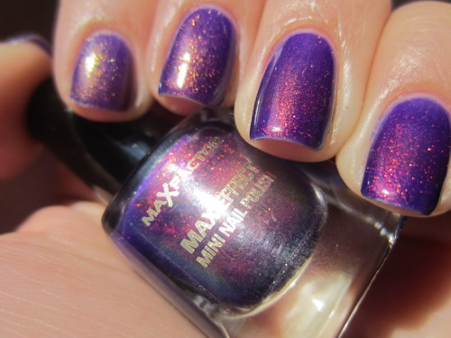 "max factor ""fantasy fire"" nina from http://ninasnails.tumblr.com sent this beauty to me!!!! i'm so in love with this polish! just look how amazing and pretty it is!! its blue, purple, red, gold, green and pretty much perfect!  go check out her tumblr! she has amazing nail of the day posts"