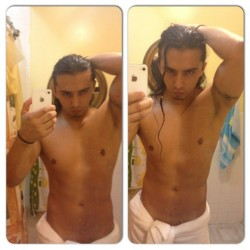 #instacollage #men #male #mirror #abs  (Tomada con Instagram)
