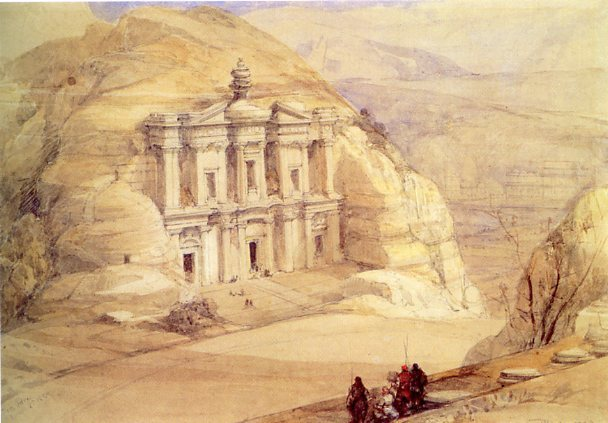 "Ad Deir (""The Monastery"") in 1839, by David Roberts"