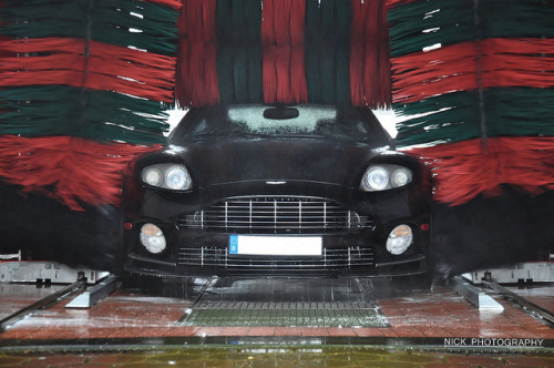 wellisnthatnice:  Washing Mansory Vanquish. by NICK Photography! on Flickr.  ONE DOES NOT SIMPLY TAKE AN ASTON  MARTIN TO A DRIVE-THROUGH CAR WASH!That's like wiping a Mahogany Desk with sandpaper…
