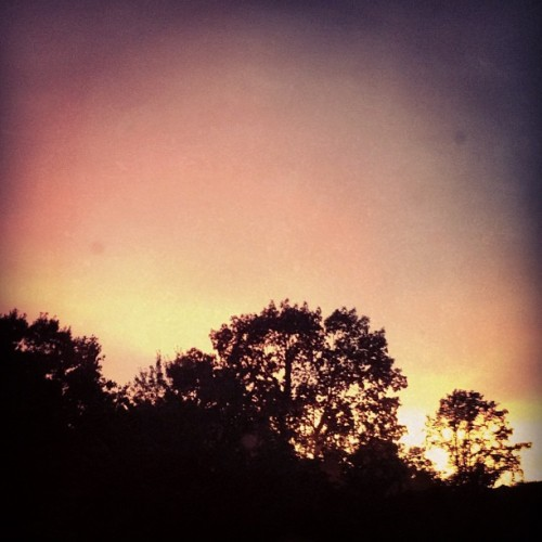 Gorgeous post summer storm sunset (Taken with Instagram)