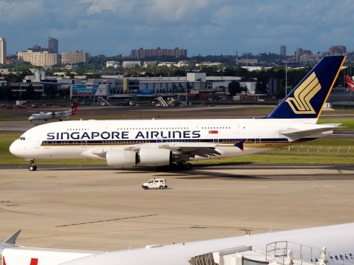 Singapore Airlines A380 at Sydney  Type: Airbus A380-841 Registration: 9V-SKI Location: Kingsford Smith International Date: 02/12/2011
