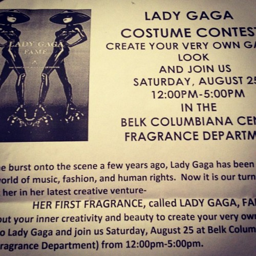 Totally gonna enter this @ladygaga #costumecontest #fame #gaga  (Taken with Instagram)