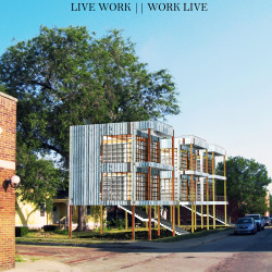 Live Work || Work Live Live Work || Work Live is a vision for a living unit that would allow the owner to wake up and work as they would please.  The 3 units are prototypes for a style of dwelling made of easy accessible materials that create a simple and radical architecture. This project provides an ideal condition for artists of all kinds to create a life style around their art. The ground level is an extension of the building above. This unit of space could be used as storage, work space or whatever.  MATTHEW.NOE