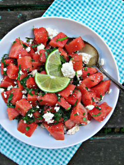 beautifulpicturesofhealthyfood:  Watermelon, Feta & Mint Salad…RECIPE