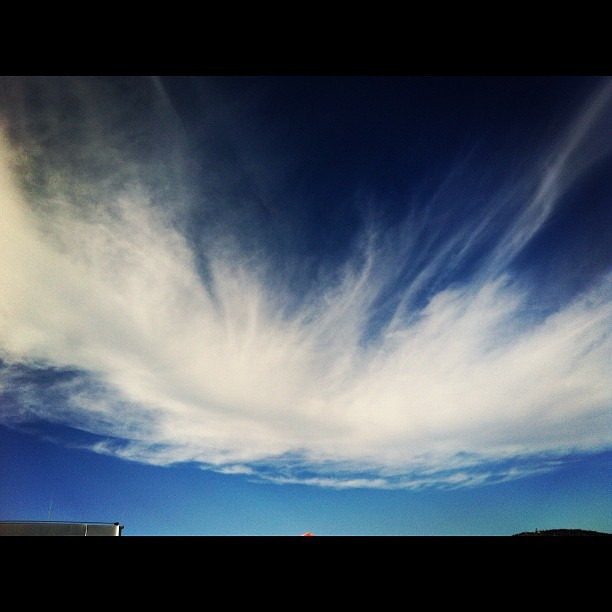 A wisp of clouds in an otherwise cloudless sky. (Taken with Instagram at Spirit of Vancouver Island)