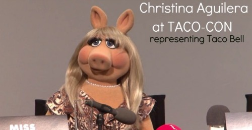 Christina Aguilera at Taco Convention