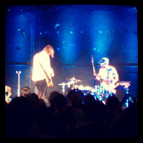 08032012 #MovementNYC // #Free #JonForeman #Concert! // At Bayard Rustin Auditorium With Guest #Performance by #RobEstevez // Jon with the #Drummer // #NYC #Church #Music #Movement #Christian #Switchfoot #Singer (Taken with Instagram)