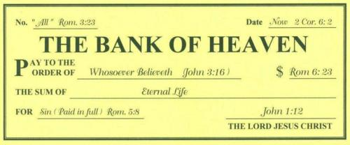 The Bank of Heaven…