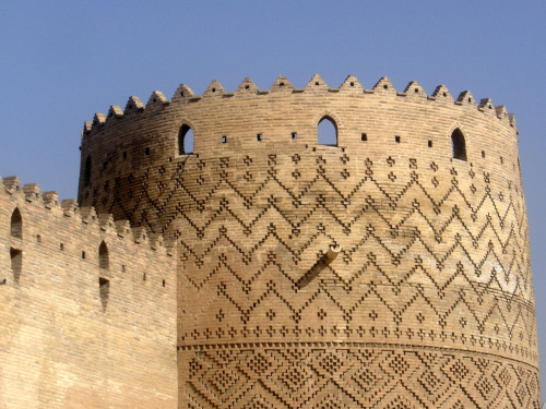 One of the Watch Towers of Karim Khan Zand Fort, Shiraz, Iran