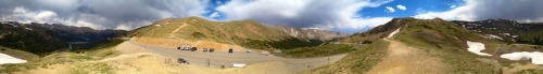 Panorama, Loveland Pass, CO At the Continental Divide, just 11,990 feet above sea level and wicked cold, even in June. Yes, that's snow. © Mark D Wolinski Follow us and get your travel news at Travel Off The Cuff.