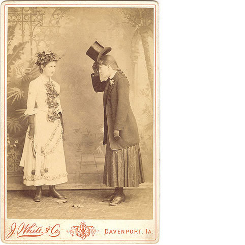 "LGBTQ* Vintage Photography  ""Good Day, My Lady."""