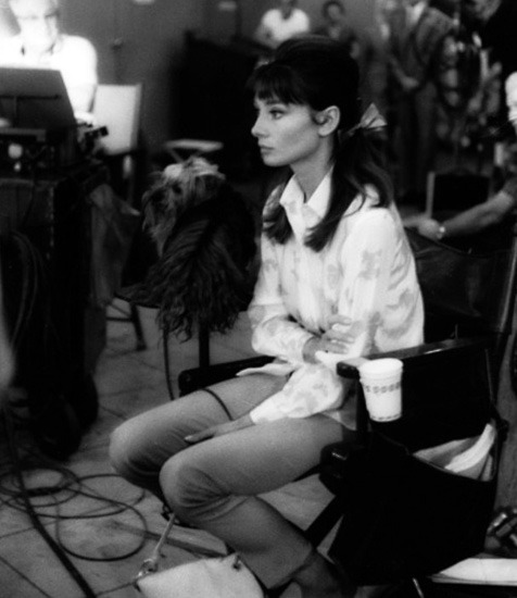 Audrey Hepburn during the filming of The Children's Hour, 1961