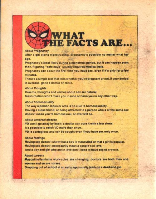 Spider-Man Sex Ed facts!