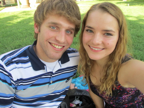Picnic at the Denton Square. :)