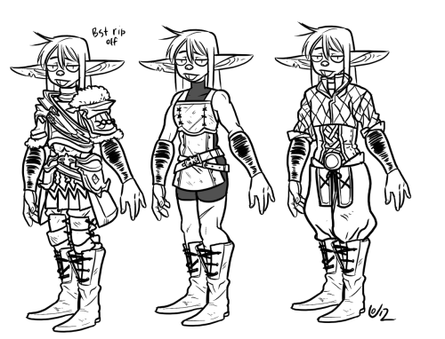 Practicing armors. Totally ripped off FFXIV's armor, but oh welllls