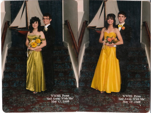 silent-rhetoric:  brnncllns:  Senior Prom 2008… yep  lol