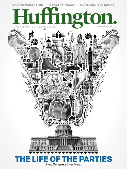 Huffington., August 5, 2012Illustration: Lorenzo Petrantoni, creative director: Josh Klenert